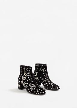 MANGO Stars embroidered ankle boots