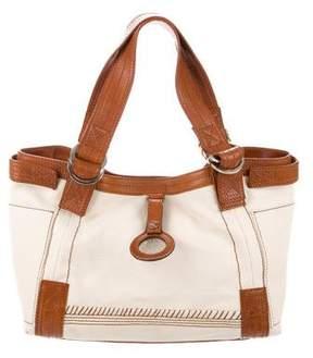 Christian Lacroix Leather-Trimmed Canvas Bag
