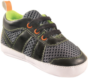 Luvable Friends Black & Lime Athletic Sneaker - Boys