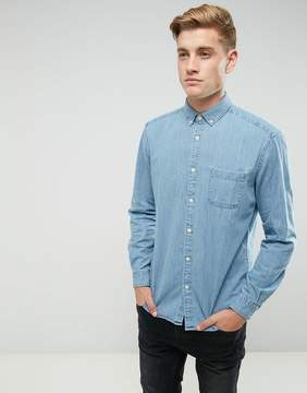 Esprit Shirt In Regular Fit Denim