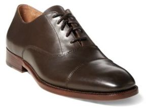 Ralph Lauren Alesky Calfskin Oxford Shoe Dark Brown 10