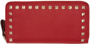 Valentino Red Garavani Rockstud Continental Wallet