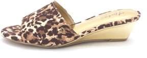 Thalia Sodi Womens Riya Fabric Open Toe Casual Wedged Sandals.
