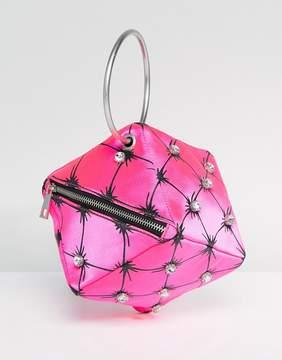 Asos DESIGN X Mary Benson Cube Clutch Bag