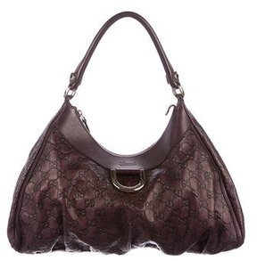 Gucci Guccissima D-Ring Hobo - PURPLE - STYLE