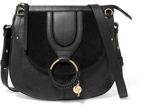See by Chloe Hana Medium Textured-leather And Suede Shoulder Bag - Black
