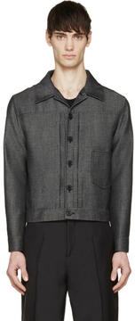 Yang Li Charcoal Twill Jacket