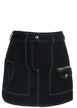 Courreges Embroidered Denim Mini Skirt