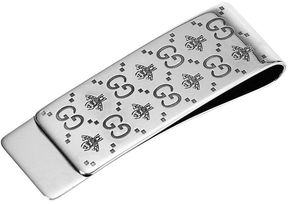 Gucci Wallet Moneyclip Interlocking Gg And Ape In Sterling Silver With Aureco Finishing