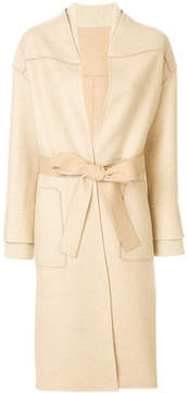Agnona belted tailored coat