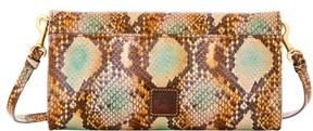 Dooney & Bourke City Python Crossbody Clutch Shoulder Bag - GREEN - STYLE