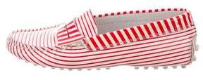 Tod's Girls' Striped Leather Loafers