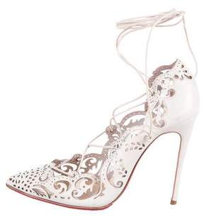 Christian Louboutin Impera 120 Laser Cut Pumps