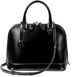 Aspinal of London | Hepburn Bag In Black Polish | Black polish
