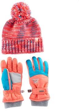 ZeroXposur Girls 4-16 Maggie Yarn Knit Hat & Gloves Set