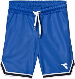 Diadora Blue Tech Fabric Branded Track Shorts