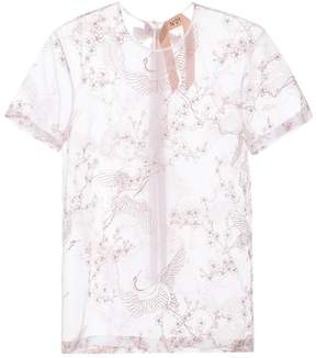 N°21 Embroidered silk shirt