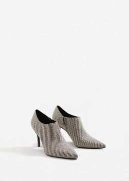 MANGO Houndstooth ankle boots