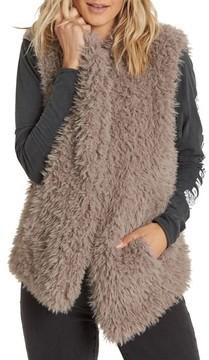 Billabong Women's Furever Love Faux Fur Vest