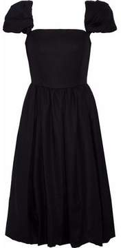 Co Gathered Cotton-Twill Dress