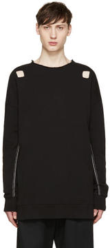 Damir Doma Black Cut-Out Syliam Pullover