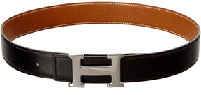 Hermes Black Constance Reversible Leather Belt (Size 70)
