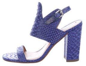 Sigerson Morrison Embossed Leather Sandals