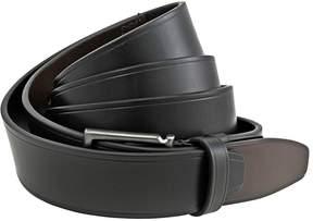 Salvatore Ferragamo Rectangular Buckle Leather Belt - Black / Brown