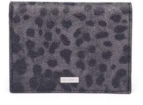 Dolce & Gabbana Men's Leopard Print Leather Bifold Wallet