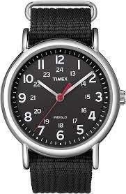Timex T2N647 Weekender Unisex Watch Black 38mm Stainless Steel