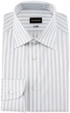 Ermenegildo Zegna Bold Stripe Dress Shirt, White