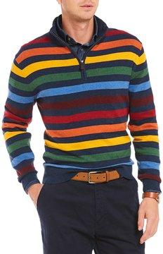 Daniel Cremieux Stripe Quarter-Zip Pullover