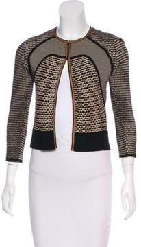 Rene Lezard Textured Virgin Wool Cardigan