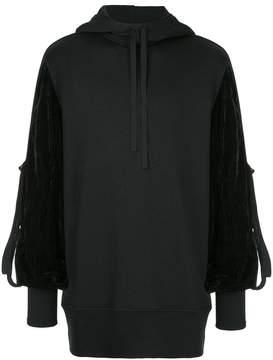 Ann Demeulemeester contrast sleeve hoodie