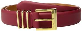 Lauren Ralph Lauren Classics Triple Keeper Belt Women's Belts