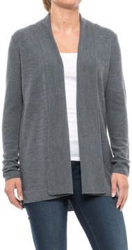 Adrienne Vittadini Textured Flyaway Cardigan Sweater - Merino Wool (For Women)