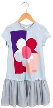 Fendi Girls' Logo Printed Dress