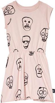 Nununu Powder Pink Skull Mask Dress