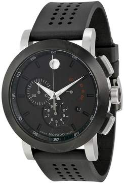 Movado Museum Black PVD Steel Chronograph Men's Watch