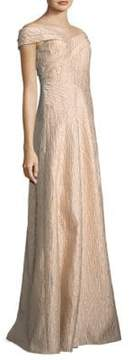 Aidan Mattox Off-the-Shoulder Gown
