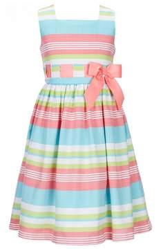 Bonnie Jean Little Girls 2T-6X Striped Bow Dress