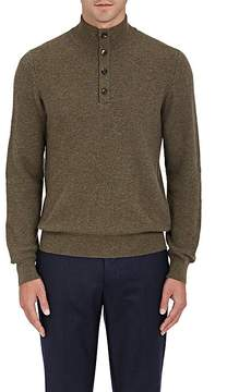 Luciano Barbera Men's Mélange Cashmere Mock-Turtleneck Sweater