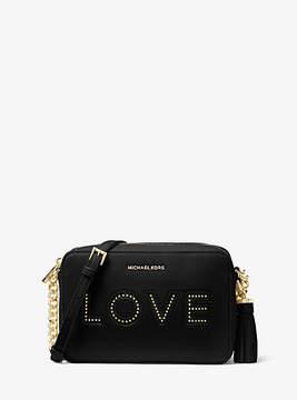 Michael Kors Ginny Love Leather Crossbody - BLACK - STYLE