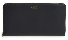 Smythson Women's Panama Calfskin Leather Travel Wallet & Passport Case - Black