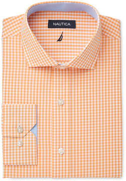 Nautica Men's Classic Fit Apricot Gingham Dress Shirt