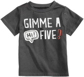 First Impressions Hi Five-Print Cotton T-Shirt, Baby Boys (0-24 months), Created for Macy's