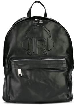 John Richmond Kids embossed logo backpack