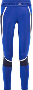 adidas by Stella McCartney Color-block Climaheat Stretch Leggings - Bright blue