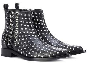 Alexander McQueen Braided Chain leather ankle boots