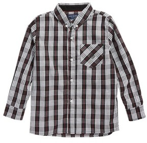Andy & Evan Toddler Boy's Plaid Woven Shirt